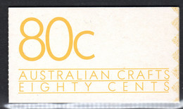 AUSTRALIA - 1988 AUSTRALIAN CRAFTS 80c BOOKLET FINE USED CTO SG SB62 (2 SCANS) - Booklets