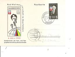 Cyclisme ( Carte Postale Illustrée De Sarre De 1955 à Voir) - Wielrennen