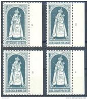 OCB Nr 1436 Christmas Noel Kerstmis Navidiad Madonna ALLE PLAATNUMMERS - Tous Les Numéros De Planche - 1961-1970