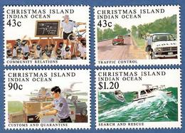 Australien / Christmas Island 1991  Mi.Nr. 329 / 332 , Policing On Christmas Island - Postfrisch / MNH / (**) - Christmas Island