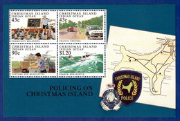 Australien / Christmas Island 1991  Mi.Nr. Sheet 6 (329 /32) , Policing On Christmas Island - Postfrisch / MNH / (**) - Christmas Island