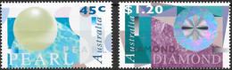 Australia 1996 Mi.No. 1593 - 1594  Pearl  Diamond  2v MNH**  3.40 € - Mint Stamps