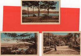 "SAÏGON-LOT 5 Cpa ."" Allée Du Jardin "" § "" DALAT. ( Le Lac )-( Vue Panoramique ) "" § "" Kompong.Chnang"" § "" Cochinchine "" - Vietnam"