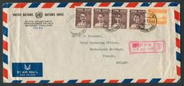 1951 Thailand United Nations ECAFE Economic Commission Bangkok Cover + Letter - Netherlands Railways, Utrecht Holland - Thailand