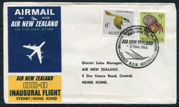 1966 Australia Sydney - Hong Kong, Air New Zealand First Flight Cover - Covers & Documents