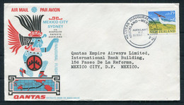 1966 New Zealand Auckland - Mexico Qantas First Flight Cover - Airmail