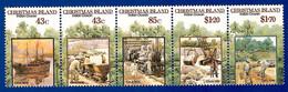 Australien / Christmas Island 1991  Mi.Nr. 324 / 328 , 100 Jahre Phosphatabbau - Postfrisch / MNH / (**) - Christmas Island