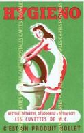 Poudre Détartrante Hygieno Pour Cuvette De WC Désodorise Et Désinfecte Produit Rollet Carte échange - Advertising