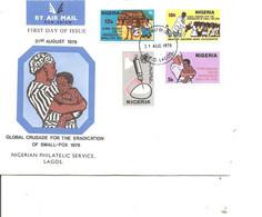 Maladies - Variole ( FDC Du Nigéria De 1978 à Voir) - Malattie