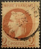 FRANCE N°26A Ou B Oblitéré - 1863-1870 Napoleon III With Laurels