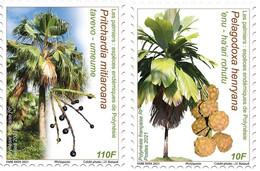 Polynesia 2021 Polynesie PALM TREE Palmier Arbre Flora Palme Palmera Palma 2v - Unused Stamps