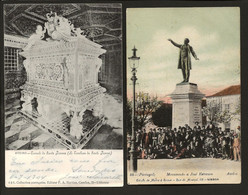 Conjunto De 2 Postais Antigos De AVEIRO: Minumento A José Estevão + Tumulo De Santa Joana. Set 2 Old Postcards PORTUGAL - Aveiro