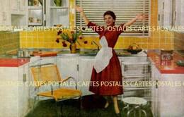 Superbe Cuisine Vintage Sur Carte Publicitaire Eskal Expansion électrique LA Cuisine Idéale à Portes Escamotables - Advertising