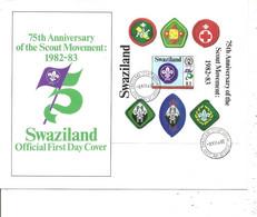 Scoutisme ( FDC Du Swaziland De 1982 à Voir) - Brieven En Documenten
