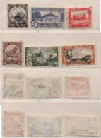 Neuseeland 1942 MiNr.: 218E, 219D-221D, 224E; 225D Gestempelt New Zeeland Used - Used Stamps