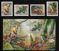 2006 Taiwan Fairy Pitta Set And Minisheet (** / MNH / UMM) - Sperlingsvögel & Singvögel