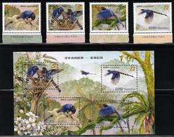 2008 Taiwan Blue Magpie Set And Minisheet (** / MNH / UMM) - Sperlingsvögel & Singvögel