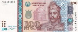 Tajikistan, 100 Somoni, 2017, P#27b, B216, UNC - Tajikistan