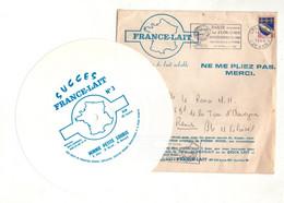 45 Tours Souple Succès France-Lait N°3 Minnie Petite Souris Avec Pochette Fance-Lait, Timbrée Et Oblitérée Datée De 1964 - Other