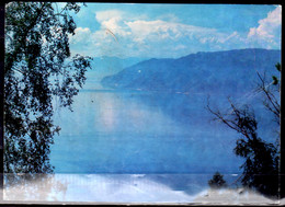1986 Russia / USSR Baykal Lake Card Runned To Germany - Average Quality Some Bends - Russia