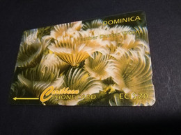 DOMINICA   GPT $ 20,-  FEATHER DUSTER WORM    75CDMF   Fine Used  Card  ** 5183** - Dominica