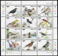 1998 Bhutan Birds Minisheet And Souvenir Sheet (** / MNH / UMM) - Sperlingsvögel & Singvögel