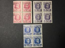 1929. MNH.273/75. Type Houyoux. Bloc De 4 Pièces - 1922-1927 Houyoux