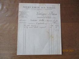 SAINT-QUENTIN GALLIEGUE-DEHON MERCERIE EN GROS 63 RUE D'ISLE FACTURE DU 28 SEPTEMBRE 1927 - 1900 – 1949