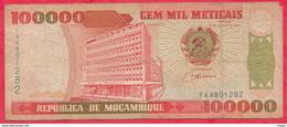 Mozambique 100000 Meticais 1993 Dans L ' état   (5) - Mozambique