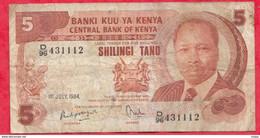 Kenya 5 Shillings Du 01/07/1984 ----VG/TTB - Kenya