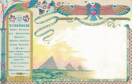 K16 - PUBLICITÉ - T. CENTONZE - Joaillerie - Orfèvrerie - Argenterie - Spécialité En Bijouterie Égyptienne - Cairo - Advertising