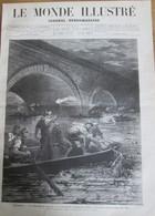 Gravure 1880  ESPAGNE Catastrophe De Logrono    Valencia    EBRE - Unclassified
