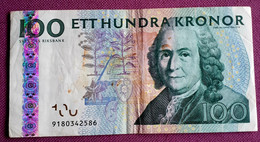 ZWEDEN . 100 KRONOR 2003 Carl V. LINNÊ CUHAY 65b - Sweden