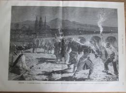 Gravure 1880  ESPAGNE  La Catastrophe De LOGRONO    L Ebre - Unclassified