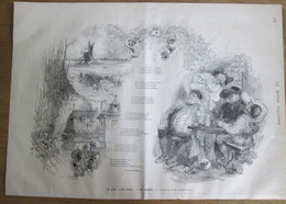 Gravure 1880  Ce Que L On Boit LA BIERE   Houblon Poésie Du Buveur De Bière   Charles Monselet - Unclassified