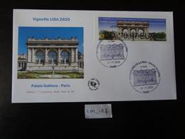 """FRANCE 2020 0,97 LISA LETTRE VERTE DD """" PARIS 2020 PALAIS GALLIERA """" OBLITERATION 04.11.20 ENVELOPPE F.D.C. - 2010-...."""