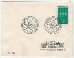 France // FDC 1960-1969 // Rassemblement Aérien Européen, Le Monde Des Philatélistes 5//6/1960 - 1960-1969