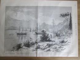 Gravure 1880 L Affaire De   DULCIGNO    Mouillage De GRAVOSA   Raguse   Traité De Berlin - Unclassified