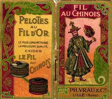1 Calendrier 1909 Fil Au Chinois Pelotes Au Fild'Or - Small : 1901-20