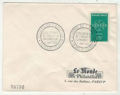 France // FDC 1960-1969 // 50 Ans De L'Aviation En Champagne, Le Monde Des Philatélistes 5//6/1960 - 1960-1969