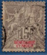 Senegambie & Niger 1903 15 C Cancelled 1 Stamp 2104.1069 - Unused Stamps