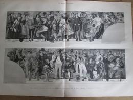 Gravure 1880 Les Nouvelles Fresques Du Théatre  Du PALAIS ROYAL PARIS THEATRE ACTEUR     Emile Bayard - Unclassified