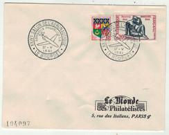 France // FDC 1960-1969 // 14ème Salon. De L'Aéronautique, Le Monde Des Philatélistes 27/5/1961 - 1960-1969