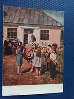 USSR PROPAGANDA  Postcard - The New School Teacher - 1954 - Pioneer - Russia