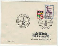 France // FDC 1960-1969 // 3ème Salon De L'aéronautique, Le Monde Des Philatélistes 18/6/1961 - 1960-1969