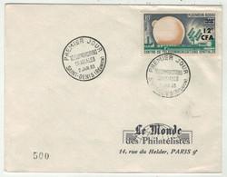 France // FDC 1960-1969 // Télécommunications Spatiales, Le Monde Des Philatélistes 2/1/1963 - 1960-1969