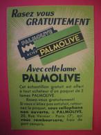 Lame De Rasoir Palmolive Montée Sur Publicité Rasez Vous Gratuitement échantillon Edition Palmolive Dos Scanné - Hojas De Afeitar