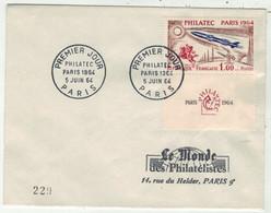 France // FDC 1960-1969 // Philatec, Le Monde Des Philatélistes 5/6/1964 - 1960-1969