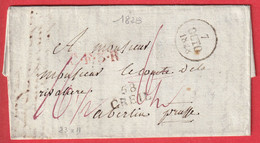 MARQUE 58 CREIL OISE POUR BERLIN PRUSSE ALLEMAGNE 1828 - 1801-1848: Precursors XIX