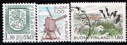 FINLANDE / Oblitérés / Used /1983 -Série Courante / Parc National,Moulin à Vent,Armoirie - Gebraucht